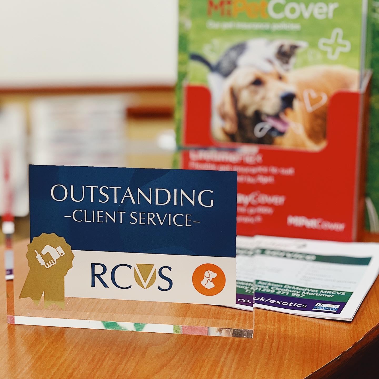 client service award rcvs